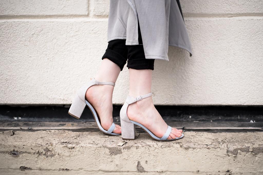 Matisse colorblock sandals shot by Colleen Donovan on juliettelaura.blogspot.com