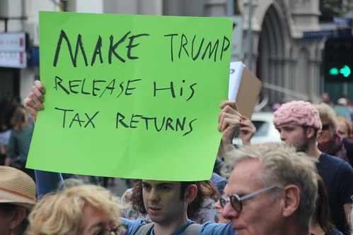 Make Trump release his tax returns - Melbourne #MarchforScience on #Earthday | by John Englart (Takver)
