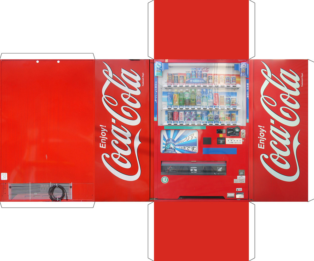 Coca cola template print on higlossy photopaper paper bug