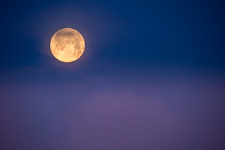 "Rare ""Honey Moon"" Setting on Friday the 13th 