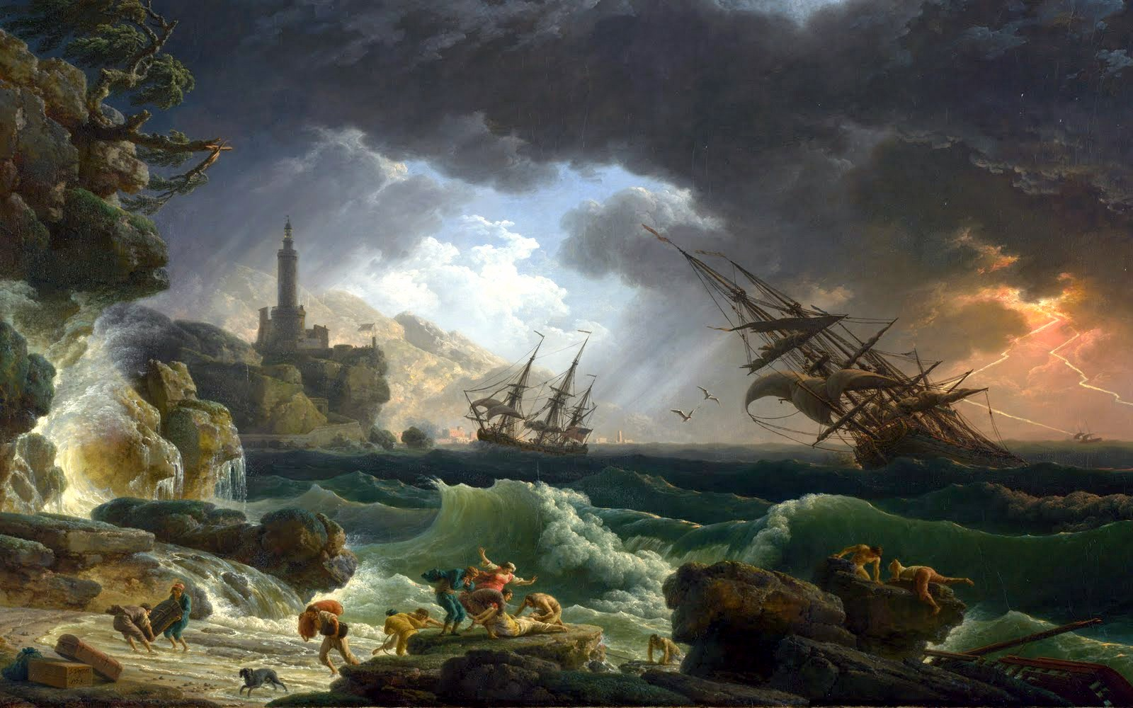 Image result for Shipwreck in Stormy Seas 1773, Claude-Joseph Vernet