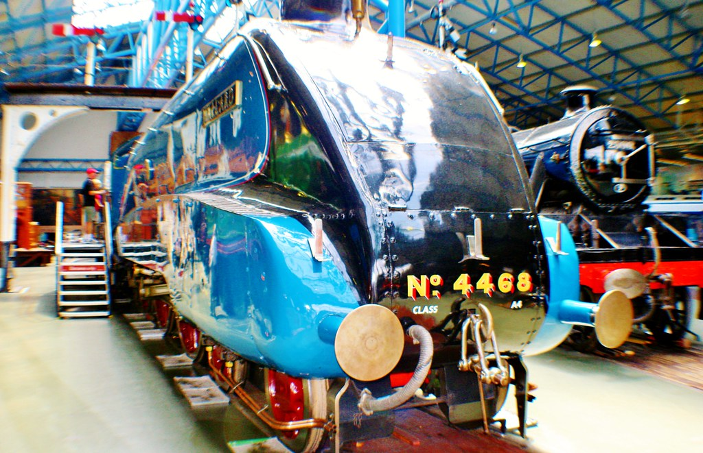 Mallard Steam Train at Railway Museum