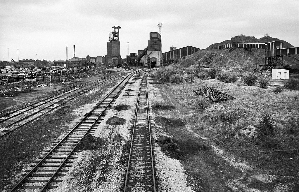 Shirebrook Colliery Seen From The South On Closure In 19