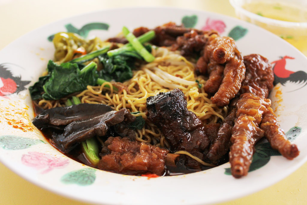 Hawker Centre in Singapore: Changi Village Food Centre Chicken Feet Noodles