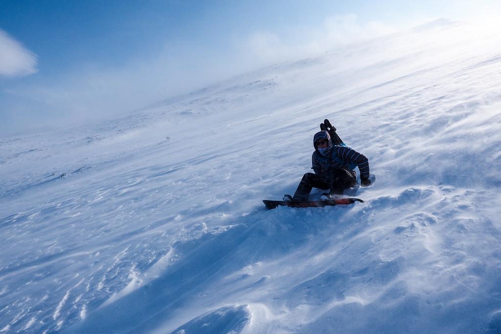 Mt. Mae-tokachi ski touring (Hokkaido, Japan)