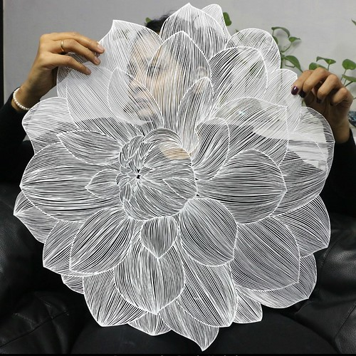 Flower Paper Cutting by Parth Kothekar