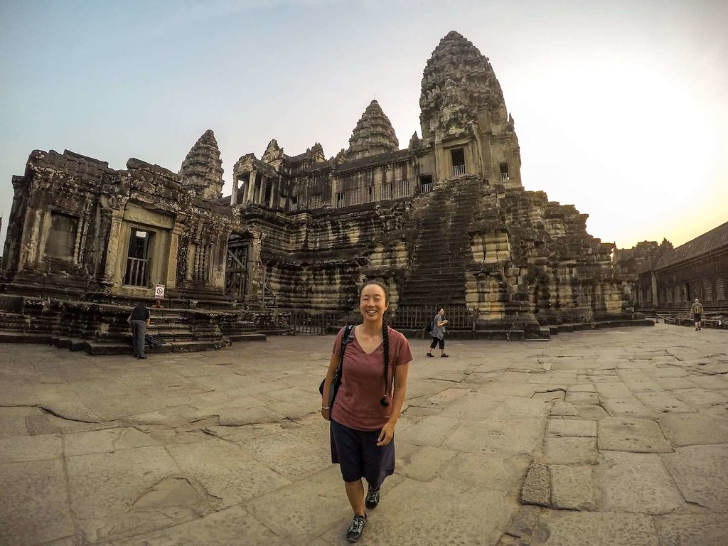 Me at Angkor Wat sunrise