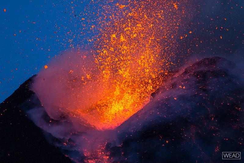 Cratere di Sudest al tramonto