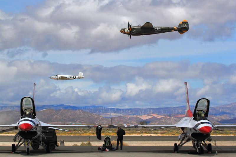 IMG_0089 P-38 Lightning and B-25 Mitchell