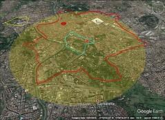Rome, Palantine Hill, 5 kilometer diameter