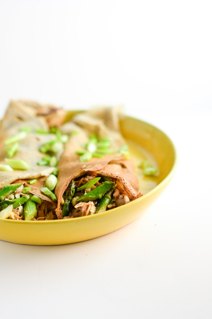 Buckwheat Crepes with Chicken, Asparagus, and Gruyere | Things I Made ...