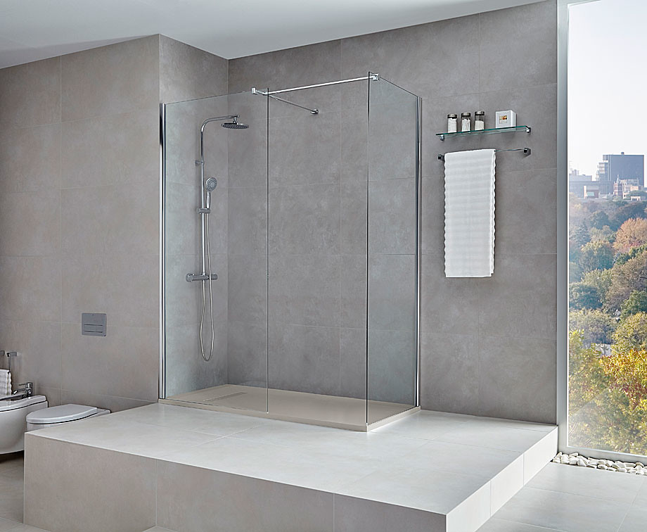 Elegant glass shower Walk-in N by Burgos-based Cerámicas Gala Sundeno_03