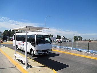 SCL estacionamientos Maiten y bus (Nuevo Pudahuel)