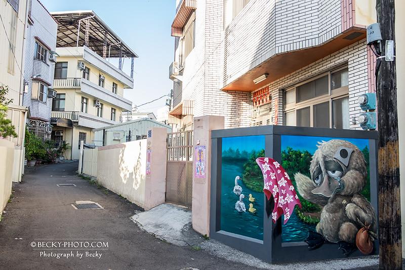 2017.Apr art @Taichung 石岡九房巷彩繪