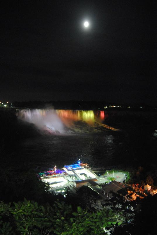 American Falls Illuminated from Niagara Falls, Ontario