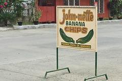 Sibale island - Jonh-nette Banana Chips sign