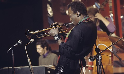Miles Davis Performs On Stage