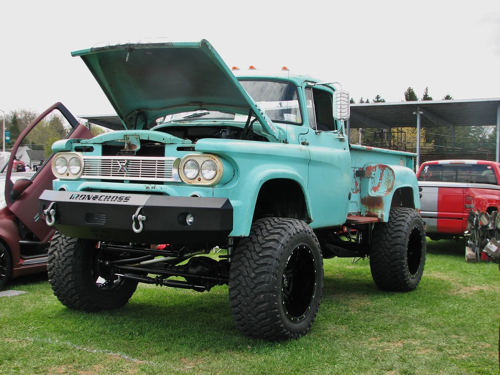 A Custom 1960 Dodge 4x4 In May 2014 Seen At The 2014 Rhine Flickr