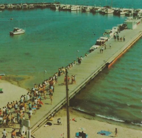 Ne east tawas mi 1960s aerial view vacation swim fun vil for Harrison fishing pier