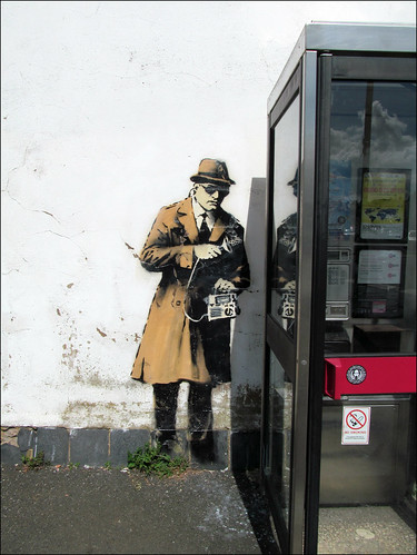 Spybooth by Banksy | by pefkosmad