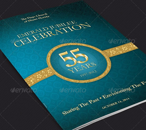 Church Anniversary Program Cover Template
