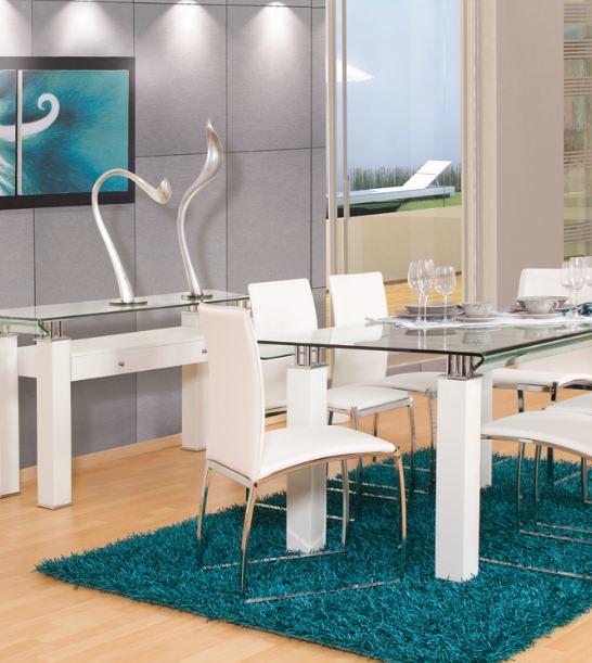 Muebles placencia comedor curvi blanco placencia muebles for Muebles placencia