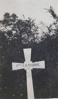 Sandy's photo of Stanley Hoare's gravemarker