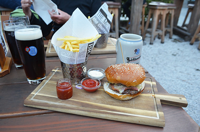 Burger and beer, Berchtesgaden, Bavaria
