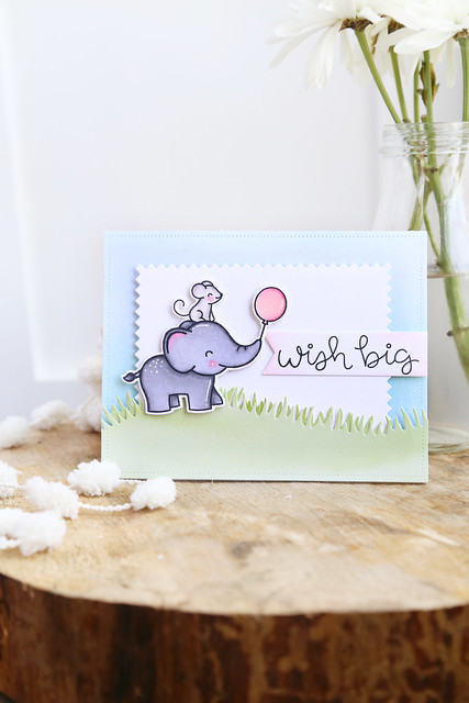 elephant party pop-up card (Lawn Fawn inspiration week)