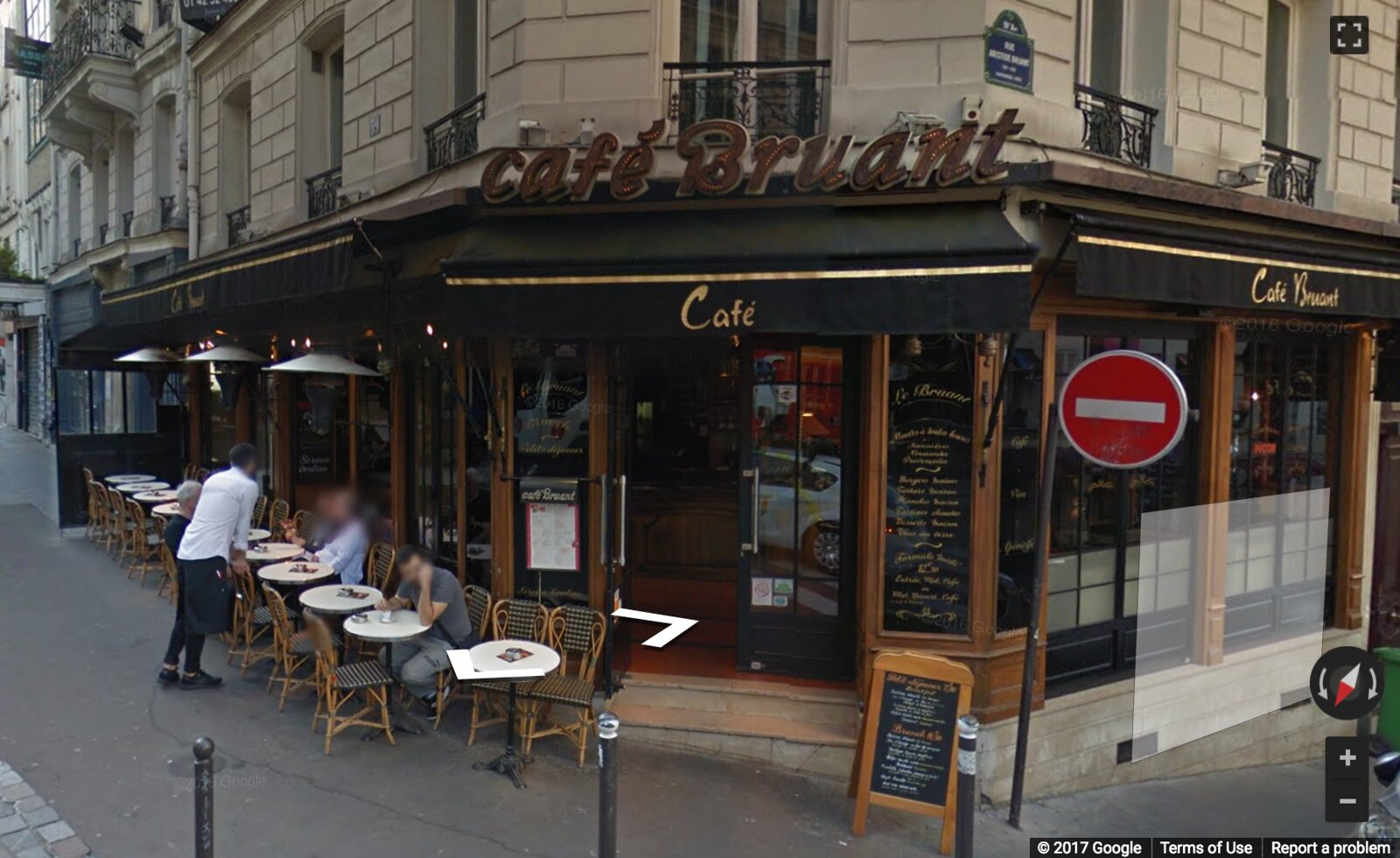 Google Street View of Cafe Bruant