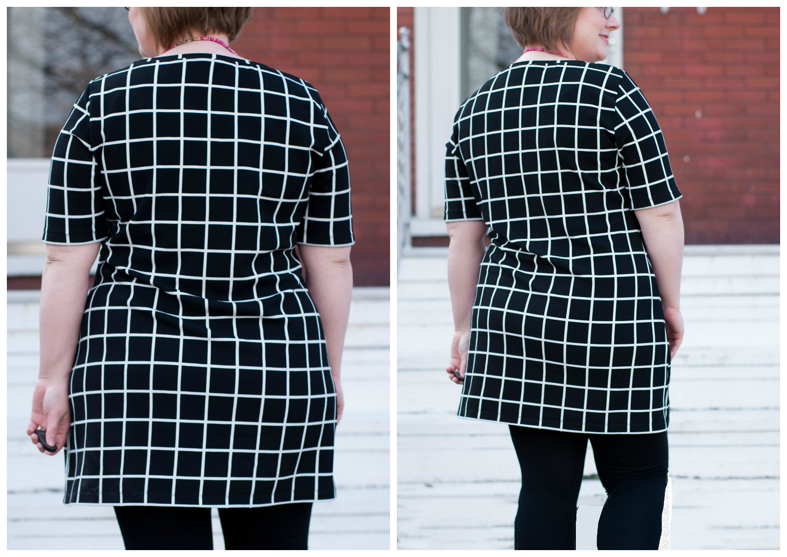 Windowpane Concord Dress