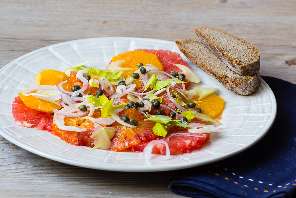 Sizilianischer Zitrusfrüchtesalat via lunchforone