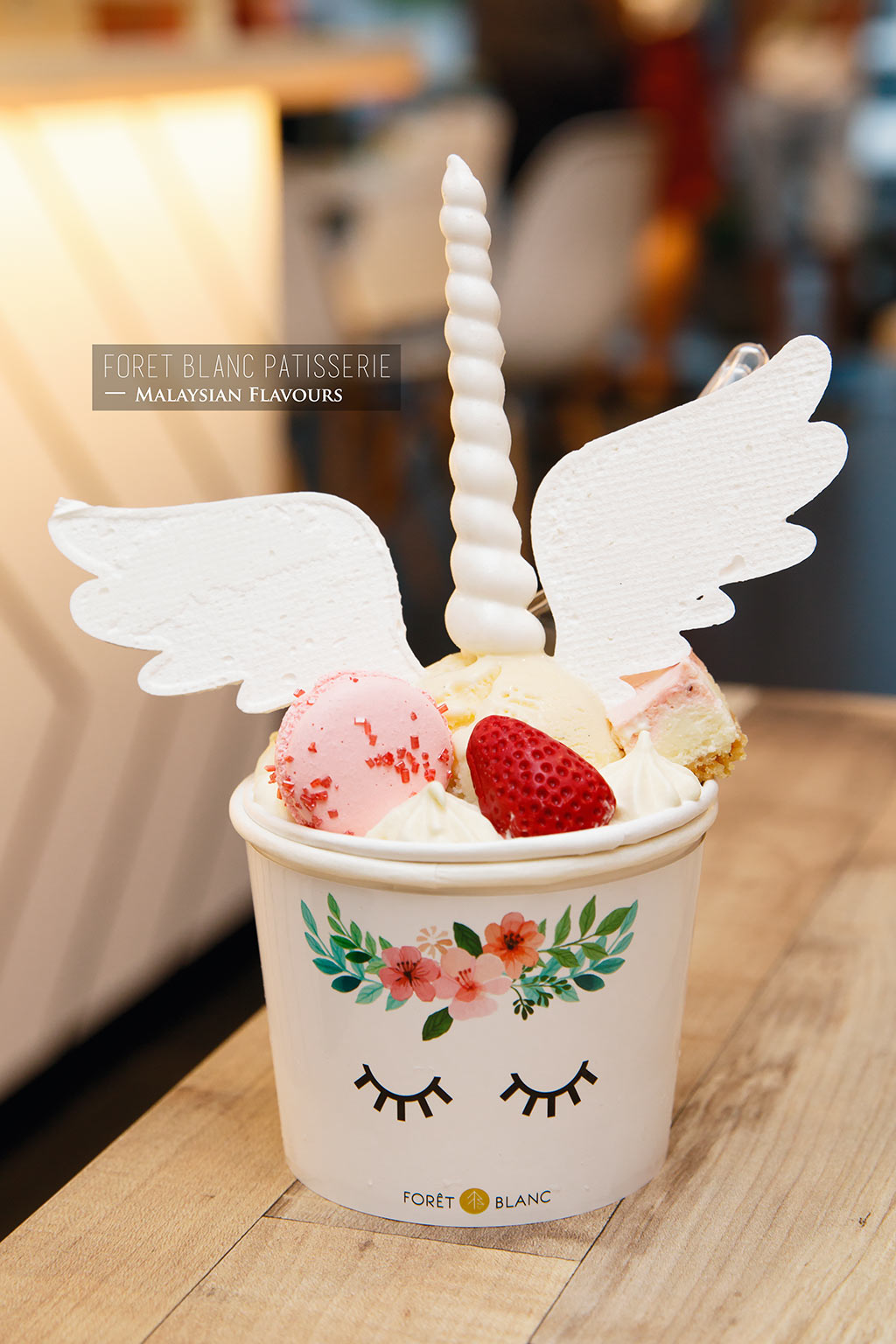 Foret Blanc Patisserie unicorn ice cream