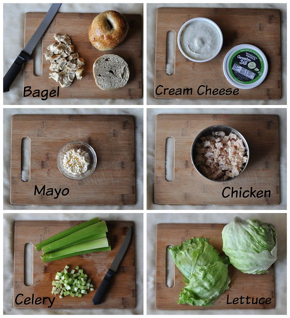 Creamy Ranch Bagel Chicken Salad Ingredients - Bruegger's Bagels