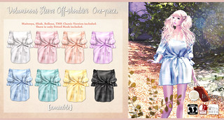 {amiable}Voluminous Sleeve Off-shoulder One-piece@the Shiny Shabby March Round(50%OFF SALE). | by nodoka Vella
