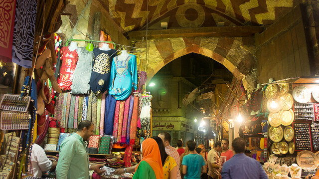 Inside the Badistan gate of Khan El-Khalili
