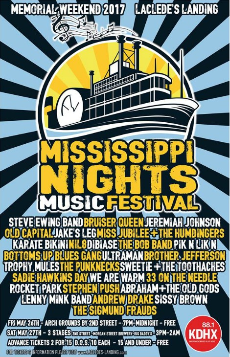 Mississippi Nights Music Festival 5-26, 5-27-17