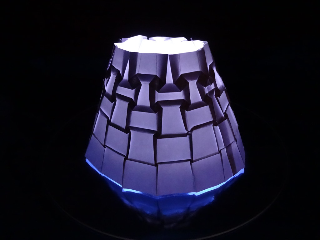 Origami lamp shade charles doc santee flickr origami lamp shade by firstfold creative origami aloadofball Gallery