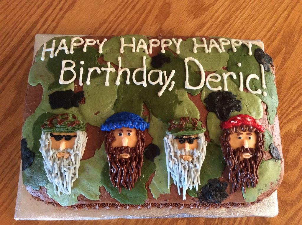 Astounding Duck Dynasty Cake By Whitney Linn County Ia Birthda Flickr Personalised Birthday Cards Veneteletsinfo