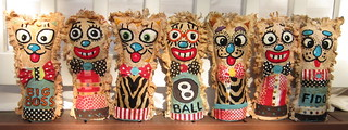 Hand Embroidered Carnival Knockdown dolls and Circus Punks | by davis.jacque