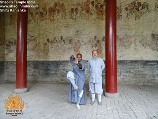Another Pose At he Lohan Hall in Shaolin Temple China | by INDIAN SHAOLIN