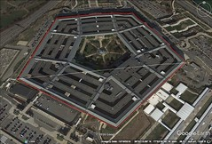 Pentagon, D.C. 500 meter diameter.