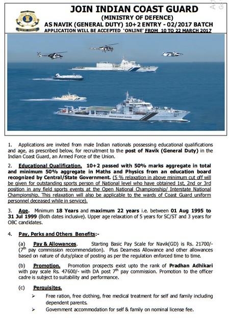 Indian Coast Recruitment