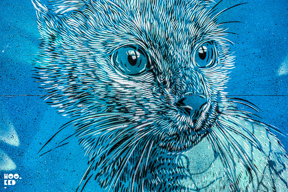 C215 Street Art For the Crystal Ship Festival in Ostend, Belgium