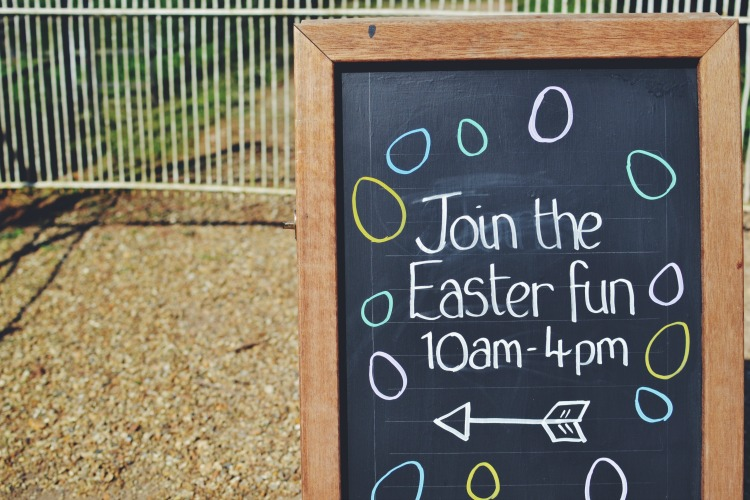 Easter Egg fun sign
