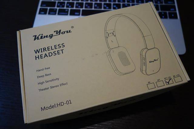 KingYou bluetooth 4.0 ヘッドフォン シアター ワイヤレス 高音質 ハイレゾ音源対応 オンイヤー ヘッドホン 折りたたみ式 有線可能 ( HD-01 ホワイト+オレンジ )