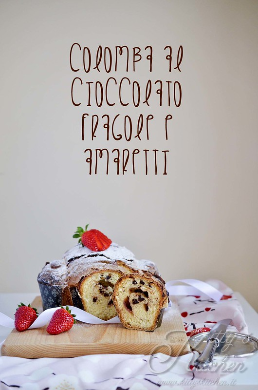 colomba amaretti cioccolato e fragole