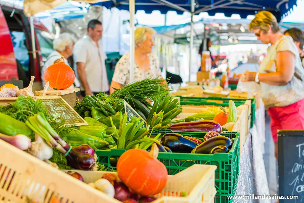 En el mercado de Biscarrosse