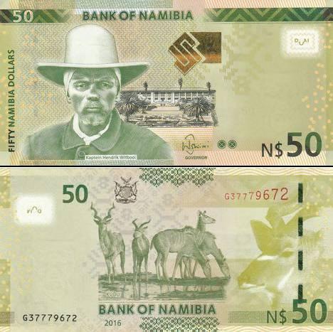 50 Dolárov Namíbia 2016, P13b