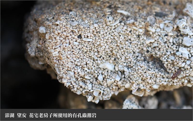 望安 花宅老房子所使用的有孔蟲灘岩
